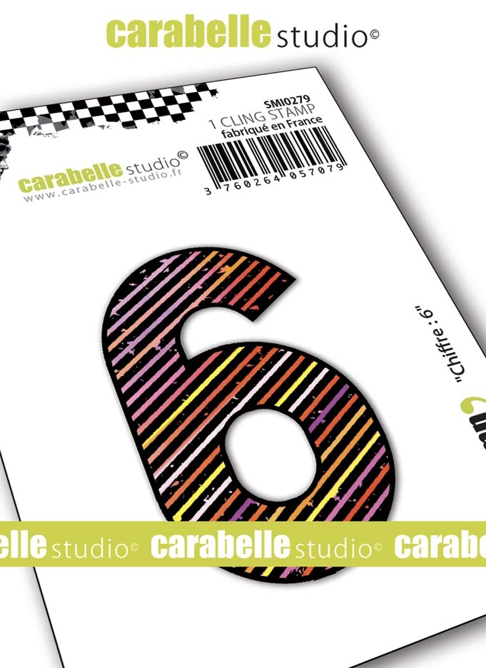 Carabelle Studio NUMBER 6 Cling Stamp smi0279 zoom image