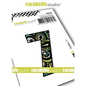 Carabelle Studio NUMBER 7 Cling Stamp smi0280