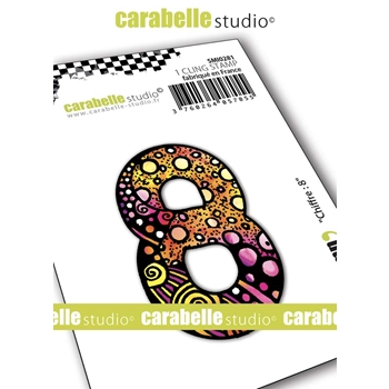 Carabelle Studio NUMBER 8 Cling Stamp smi0281