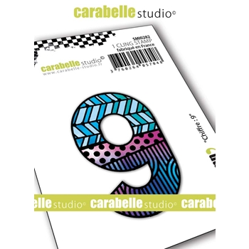 Carabelle Studio NUMBER 9 Cling Stamp smi0282