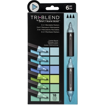 Spectrum Noir COASTAL BLENDS TriBlend Marker Set of 6 sntblecobl6