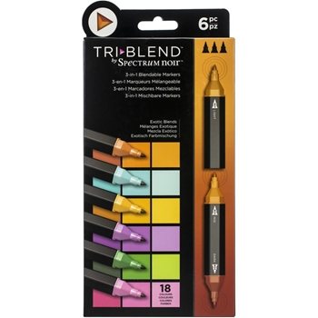 Spectrum Noir EXOTIC BLENDS TriBlend Marker Set of 6 sntbleexbl6