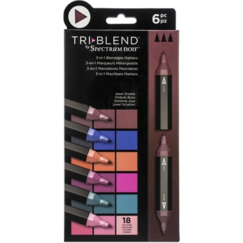 Spectrum Noir JEWEL SHADES TriBlend Marker Set of 6 sntblejesh6