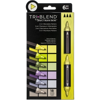 Spectrum Noir NATURAL BLENDS TriBlend Marker Set of 6 sntblenabl6