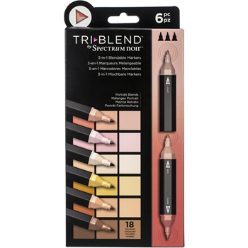 Spectrum Noir PORTRAIT BLENDS TriBlend Marker Set of 6 sntblepobl6