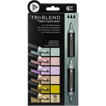 Spectrum Noir VINTAGE BLENDS TriBlend Marker Set of 6 sntblevibl6