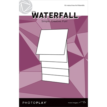PhotoPlay 4 x 4 MANUAL WHITE WATERFALL Maker's Series ppp2158