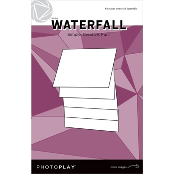 PhotoPlay 4 x 6 MANUAL WHITE WATERFALL Maker's Series ppp2159