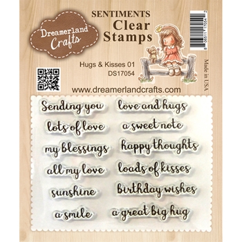Dreamerland Crafts HUGS AND KISSES 1 Clear Stamp Set ds17054
