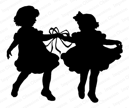 Impression Obsession Cling Stamp RIBBON DANCE SILHOUETTE F13851 zoom image