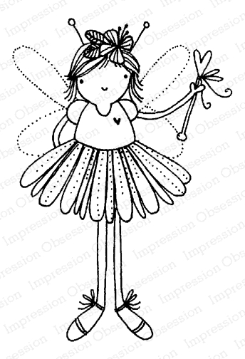 Impression Obsession Cling Stamp FAIRY MAGIC E12168 zoom image
