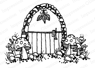 Impression Obsession Cling Stamp FAIRY DOOR D12164 Preview Image