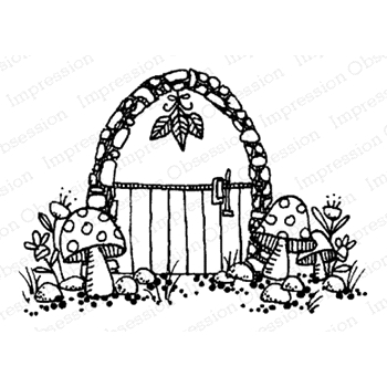 Impression Obsession Cling Stamp FAIRY DOOR D12164