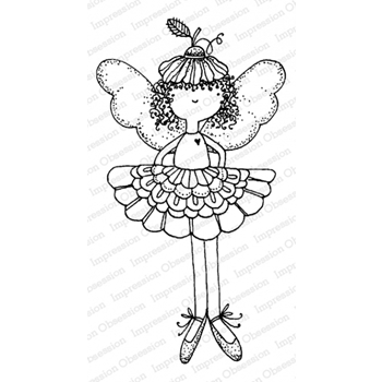 Impression Obsession Cling Stamp FLOWER FAIRY F12167