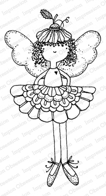 Impression Obsession Cling Stamp FLOWER FAIRY F12167 zoom image
