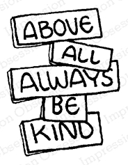 Impression Obsession Cling Stamp ALWAYS ABOUT KIND B12190 Preview Image