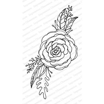 Impression Obsession Cling Stamp FLOWER RENUCULA G12191