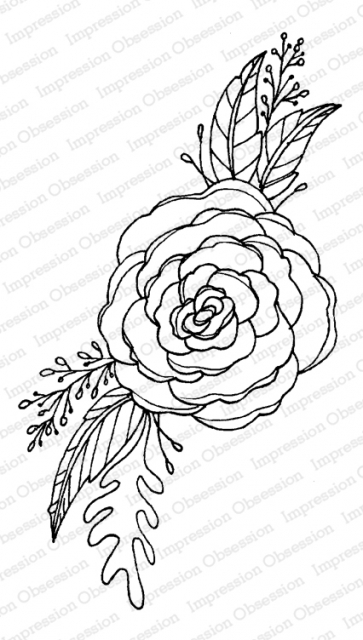 Impression Obsession Cling Stamp FLOWER RENUCULA G12191 zoom image