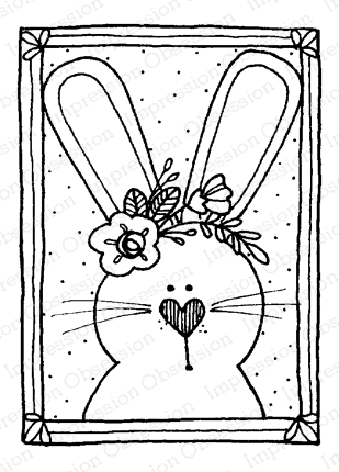Impression Obsession Cling Stamp BUNNY BLOCK D12206 Preview Image