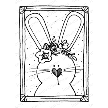 Impression Obsession Cling Stamp BUNNY BLOCK D12206