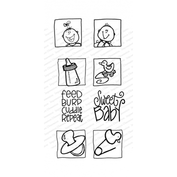 Impression Obsession Clear Stamps SWEET BABY WP1010