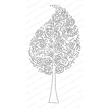Impression Obsession Cling Stamp WHIMSICAL TREE E15171