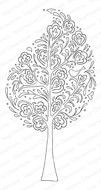 Impression Obsession Cling Stamp WHIMSICAL TREE E15171 zoom image