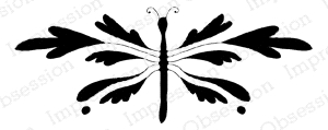 Impression Obsession Cling Stamp DRAGONFLY B15167