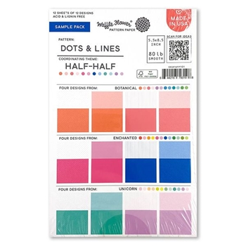 Waffle Flower DOTS AND LINES SAMPLER Paper Pad WFP101