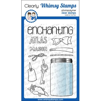 Whimsy Stamps ATLAS JAR Clear Stamps BS1009