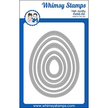 Whimsy Stamps NESTED PIERCED EGG Dies WSD450
