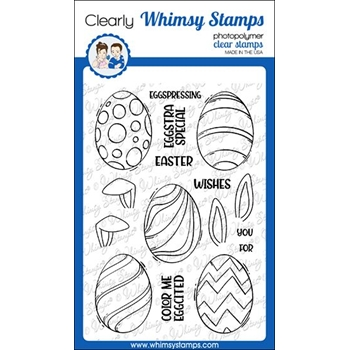Whimsy Stamps EGGSTRA SPECIAL Clear Stamps CWSD309