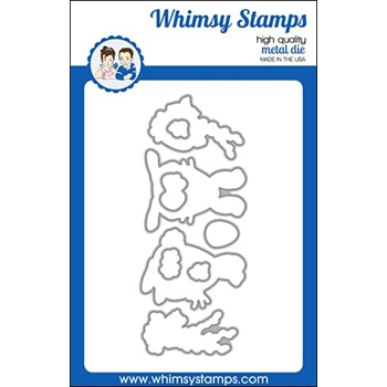Whimsy Stamps SPRING BUNNIES Dies WSD449