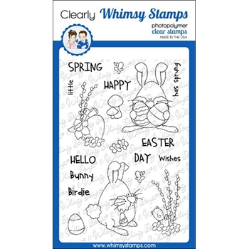 Whimsy Stamps SPRING BUNNIES Clear Stamps CWSD308