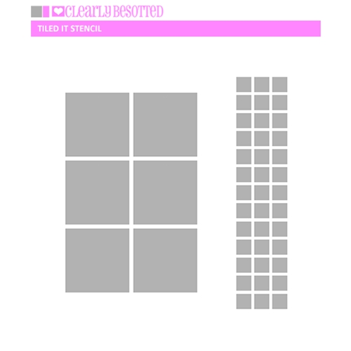Clearly Besotted TILED IT Stencil  Preview Image