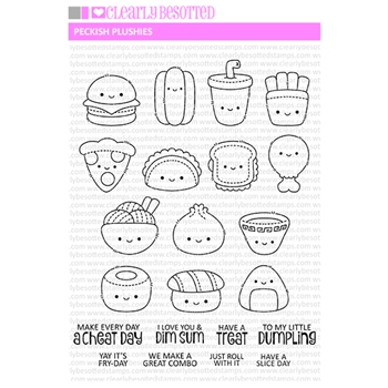 Clearly Besotted PECKISH PLUSHIES Clear Stamps