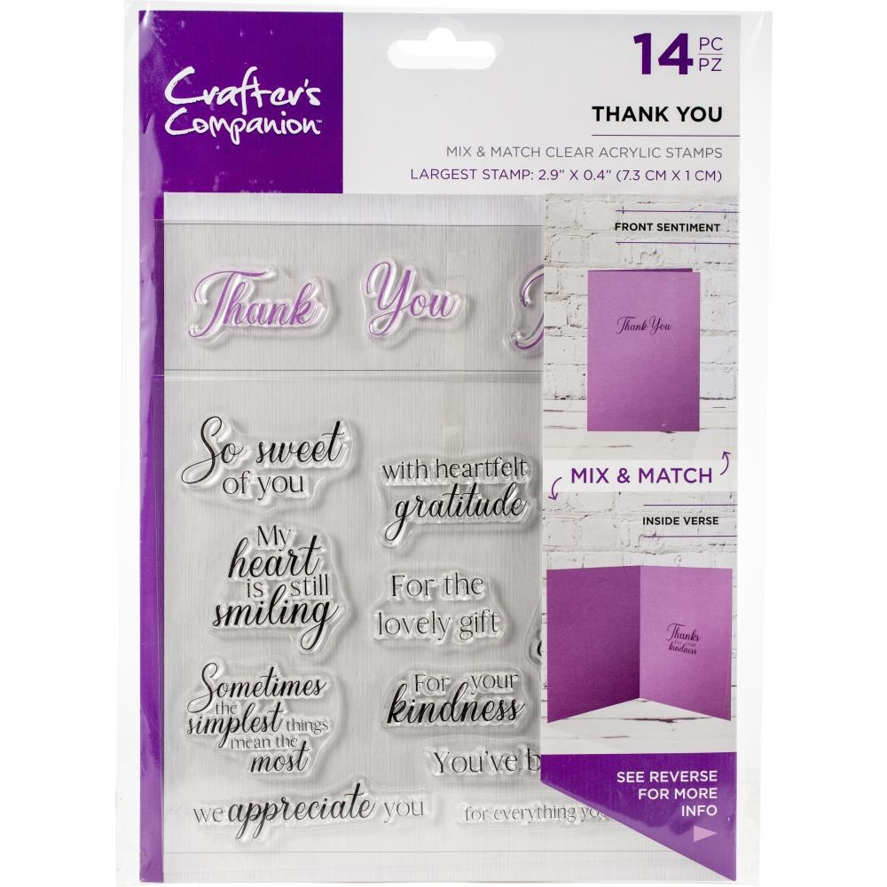 Crafter's Companion THANK YOU Clear Stamps ccstcathnku zoom image