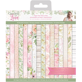 Crafter's Companion GARDEN OF LOVE 6 x 6 Paper Pad sgolpad6
