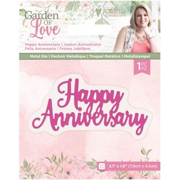Crafter's Companion HAPPY ANNIVERSARY Die Set sgolmdhaan