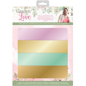 Crafter's Companion GARDEN OF LOVE Luxury Mirror Card sgolmirrorus