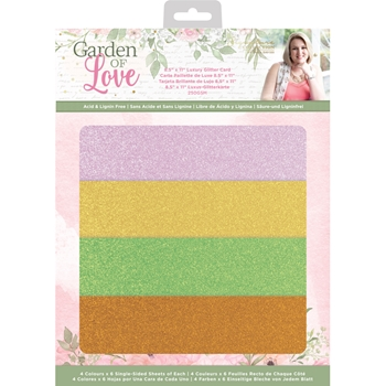 Crafter's Companion GARDEN OF LOVE Luxury Glitter Card sgolglitterus