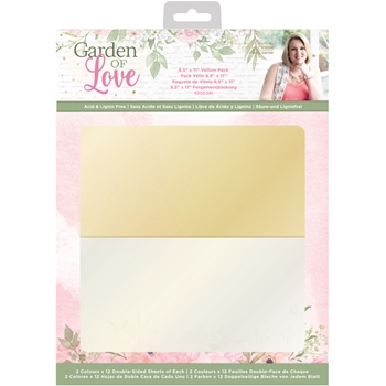 Crafter's Companion GARDEN OF LOVE Vellum Pack sgolvellumus