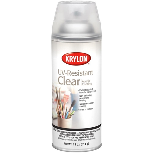 Krylon CLEAR UV-RESISTANT Acrylic Coating Aerosol Spray 1305 Preview Image