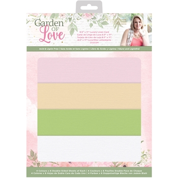 Crafter's Companion GARDEN OF LOVE Luxury Linen Card sgollinenus