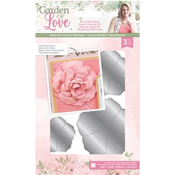 Crafter's Companion 3D LAYERED ROSE Die Set sgolmdlros