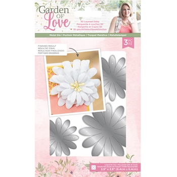 Crafter's Companion 3D LAYERED DAISY Die Set sgolmdldai