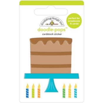 Doodlebug CHOCOLATE CAKE Doodle Pop 3D Stickers 6637