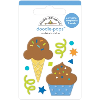 Doodlebug CAKE AND ICE CREAM Doodle Pops 3D Stickers 6641