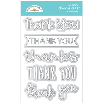 Doodlebug MANY THANKS Stand Alone Doodle Cuts Die Set 6743