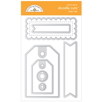 Doodlebug LARGE TAGS Stand Alone Doodle Cuts Die Set 6740*